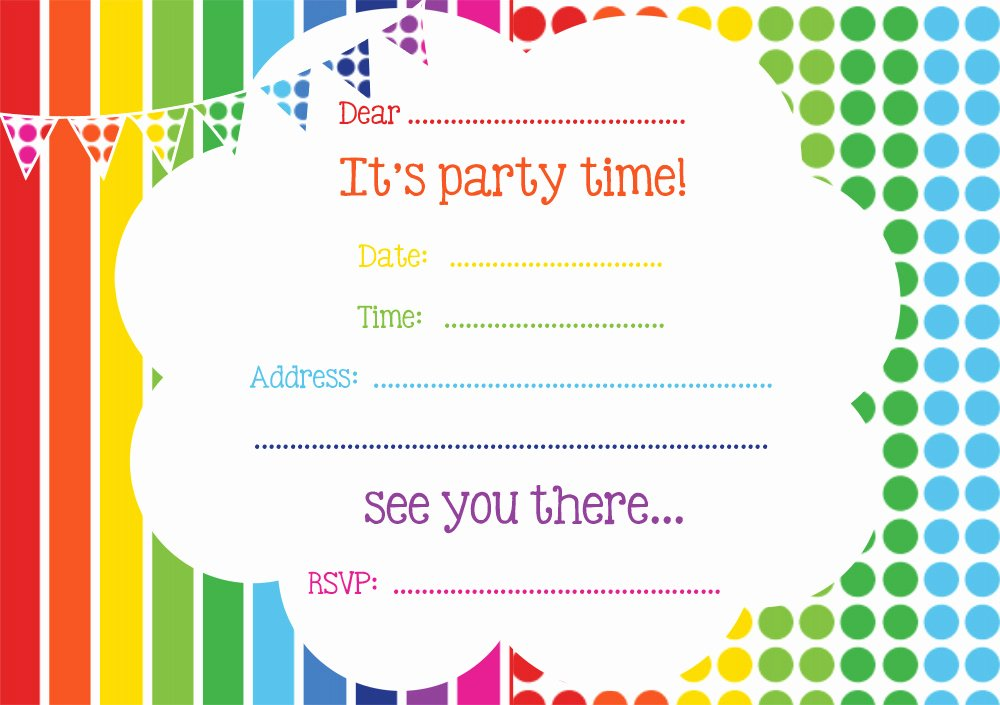 Art Party Invitation Template Best Of Free Rainbow Party Invitation