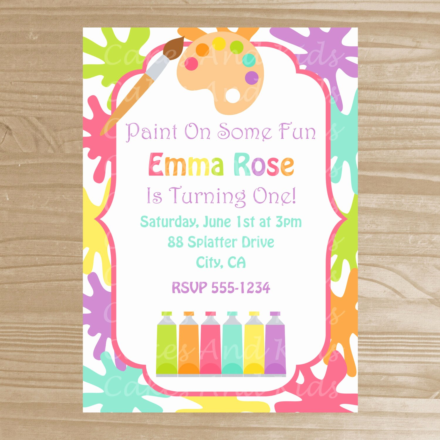 Art Party Invitation Template Best Of Painting Party Invitations Trend Painting Birthday Party