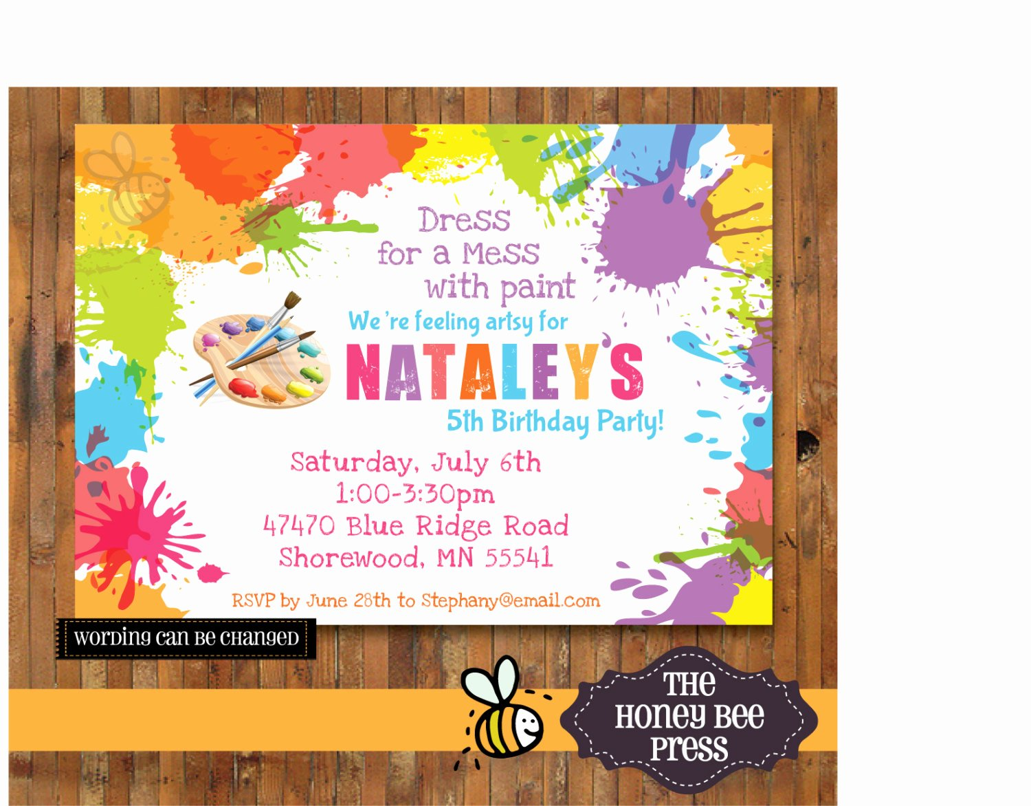 Art Party Invitation Template Elegant Art Birthday Party Invitations for Your Kids – Free