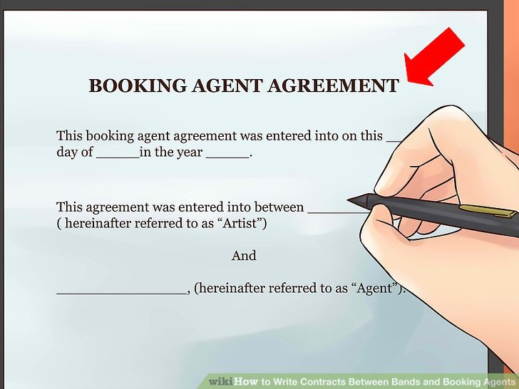 Artist Booking Contract Template Elegant How to Write Contracts Between Bands and Booking Agents