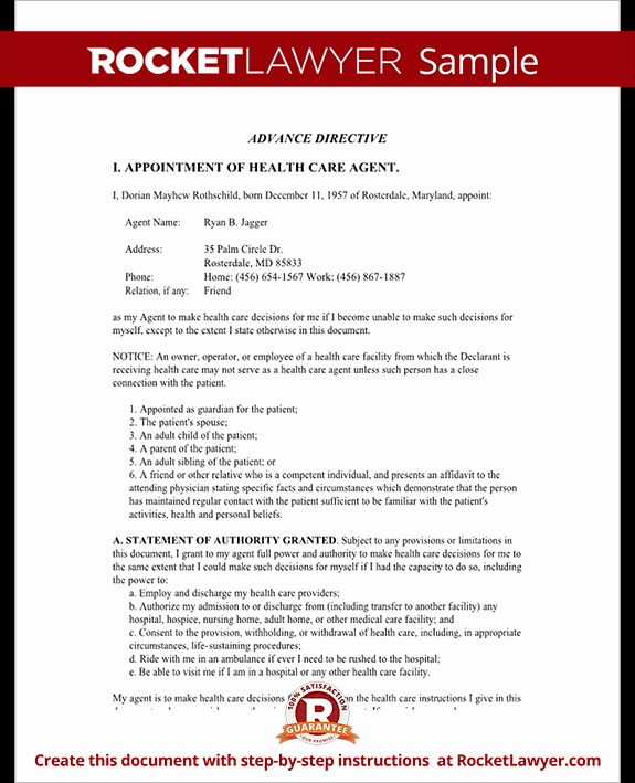 Artist Performance Contract Template New Living Will Maryland Md Living Will form Template