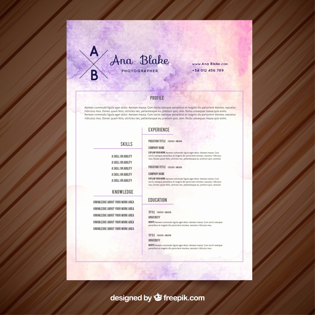 Artist Resume Template Word Awesome 10 top Free Resume Templates Freepik Blog