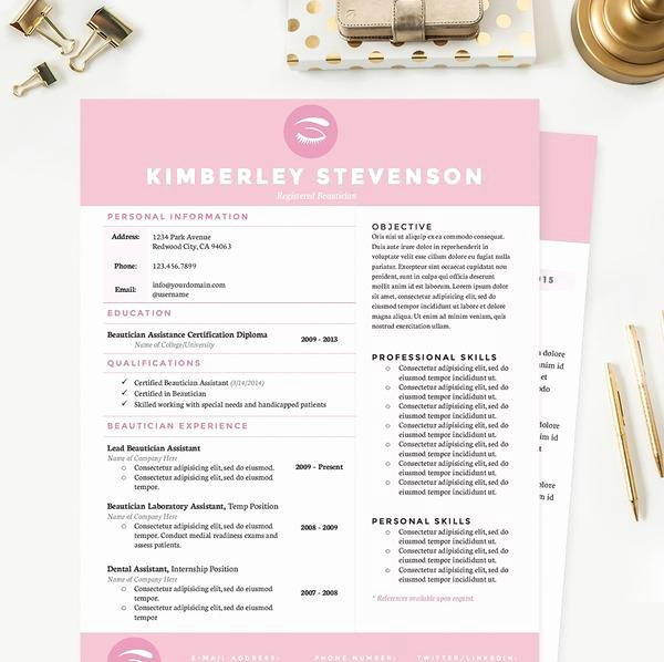 Artist Resume Template Word Beautiful Makeup Artist Resume Cover Letter & Reference Template