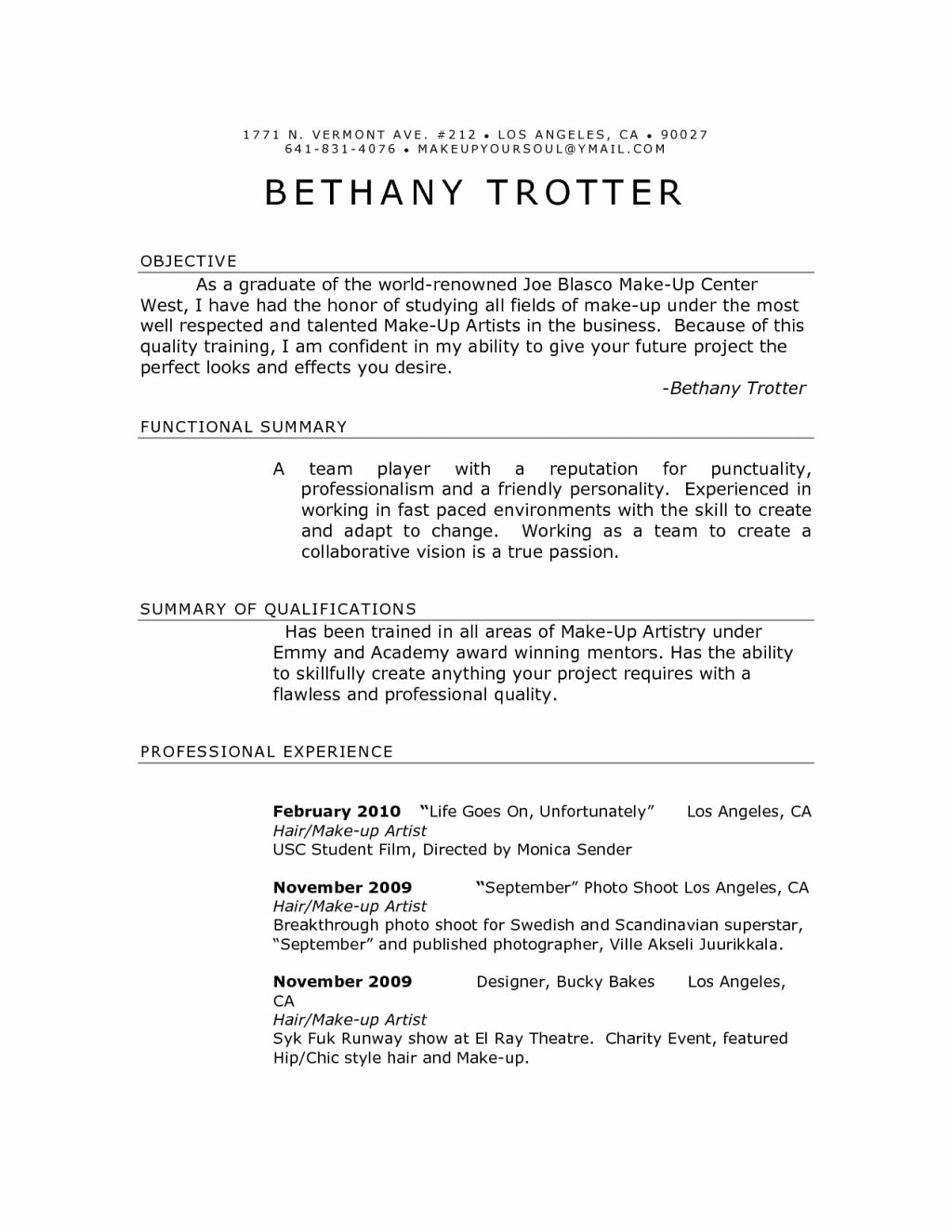 Artist Resume Template Word Best Of Production Artist Resume Sample Template Tag Fabulous