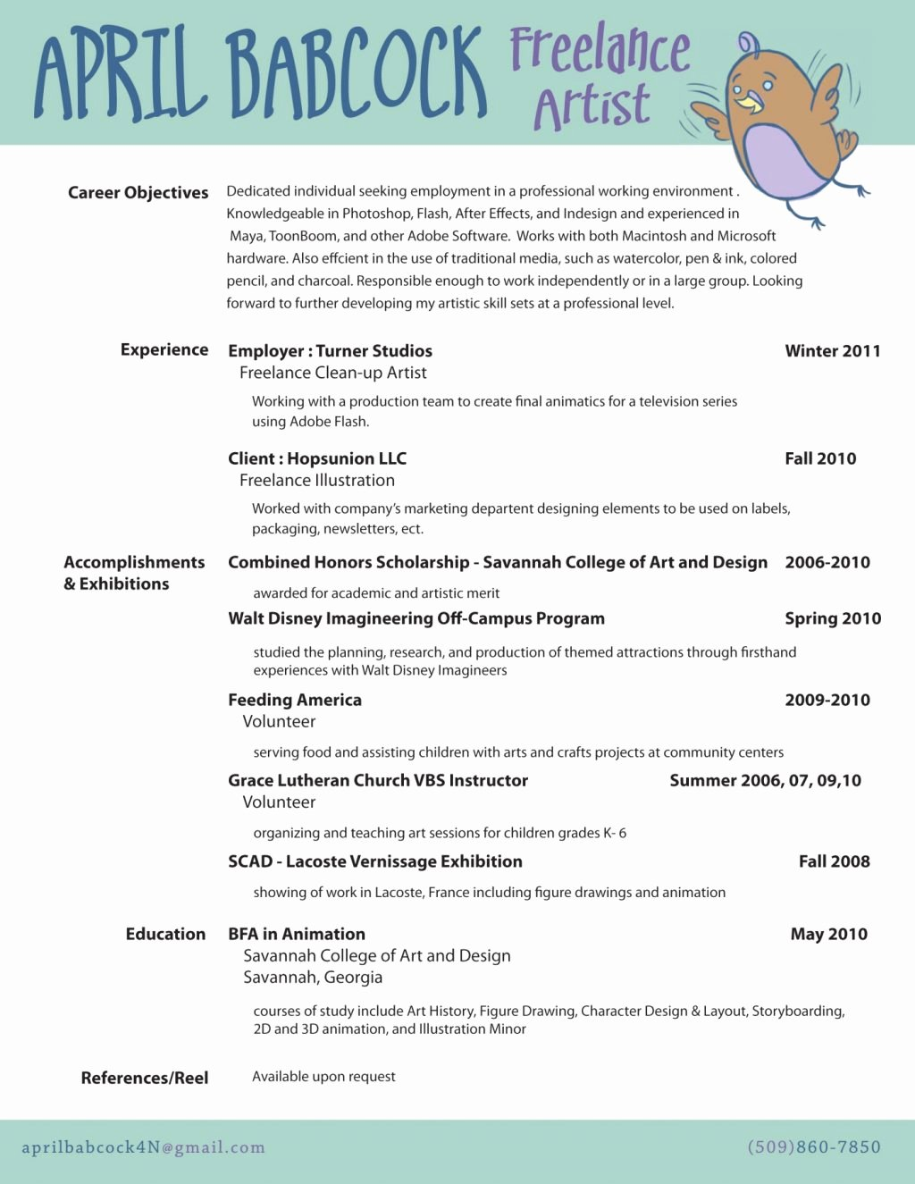 Artist Resume Template Word New Resume and Template Fabulous Artist Resume Template Word