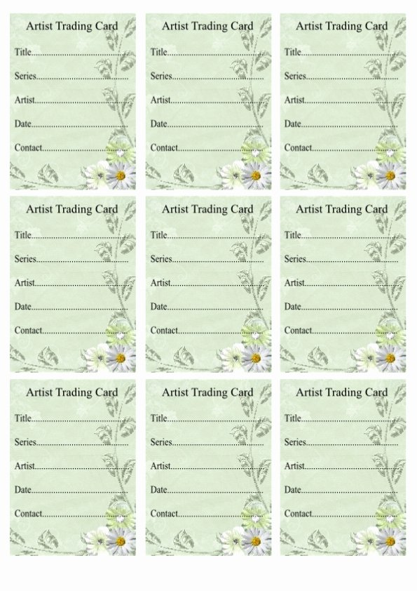 Artist Trading Cards Template Beautiful Wendy S Crafting Times Free atc Backs