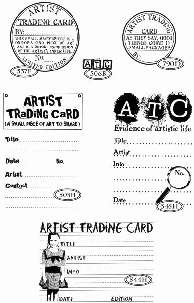 Artist Trading Cards Template Elegant What S An atc · Craftwhack