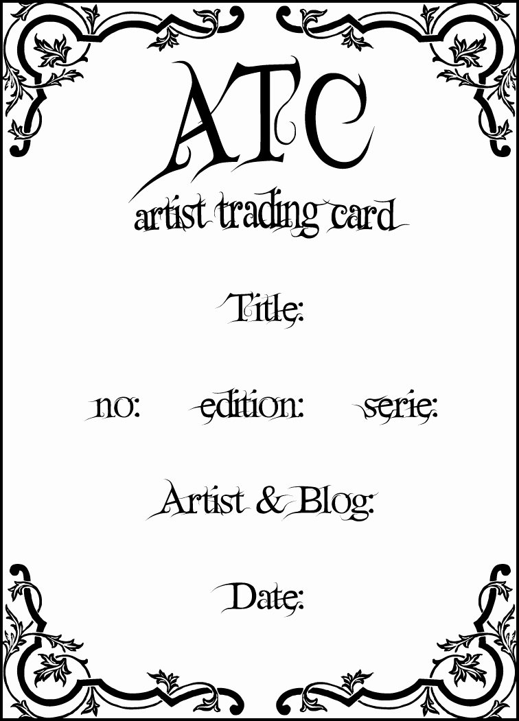 Artist Trading Cards Template Fresh Tt´s Scraps & Design