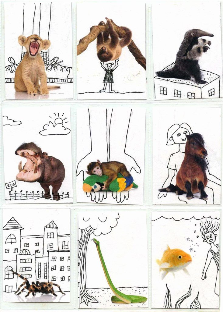 Artist Trading Cards Template Inspirational Fun with Animals atc Template Art Projects for Kids