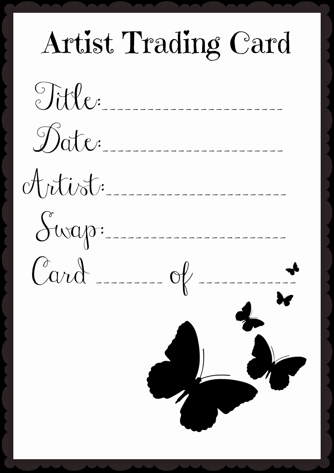 Artist Trading Cards Template New In This Little Corner Happy Three Kings Day Epiphany