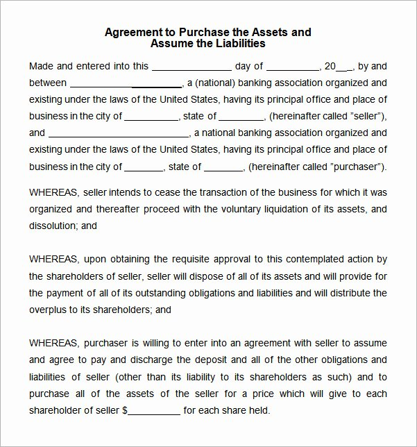 Asset Purchase Agreement Template Elegant 7 Sample asset Purchase Agreement Templates for Free