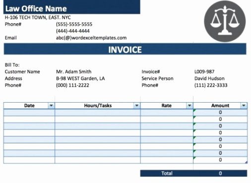 Attorney Billable Hours Template Inspirational attorney Billable Hours Invoice Template the Story