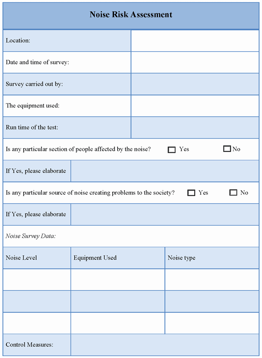 Audit Risk assessment Template Awesome Risk assessment Template