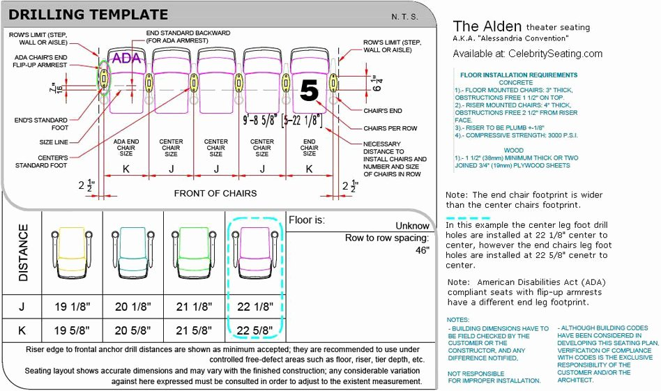 Auditorium Seating Chart Template Awesome Alden theater Seating Specification Page Auditorium