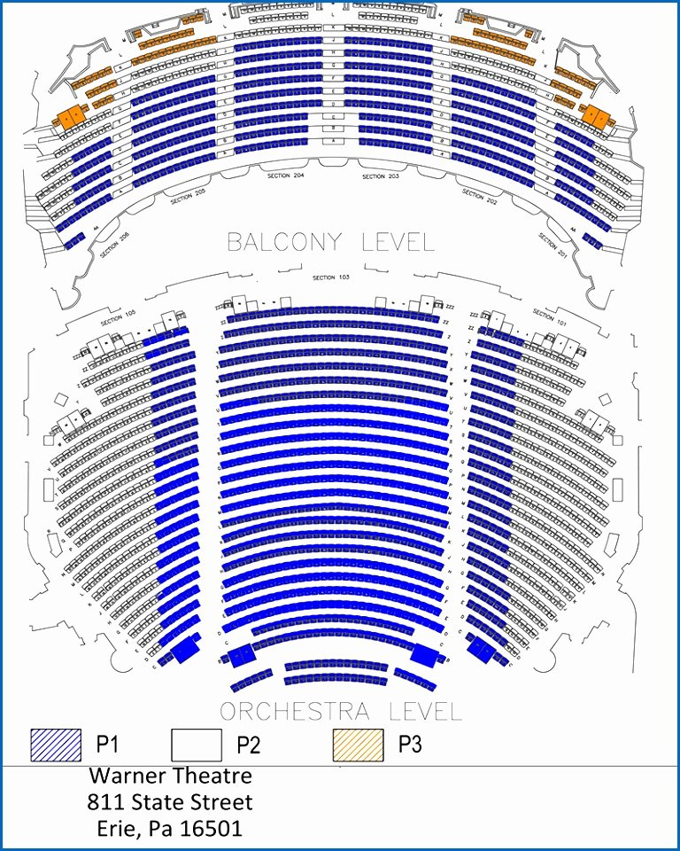 Auditorium Seating Chart Template Best Of Nac Entertainment Tickets Warner theatre Seating Chart