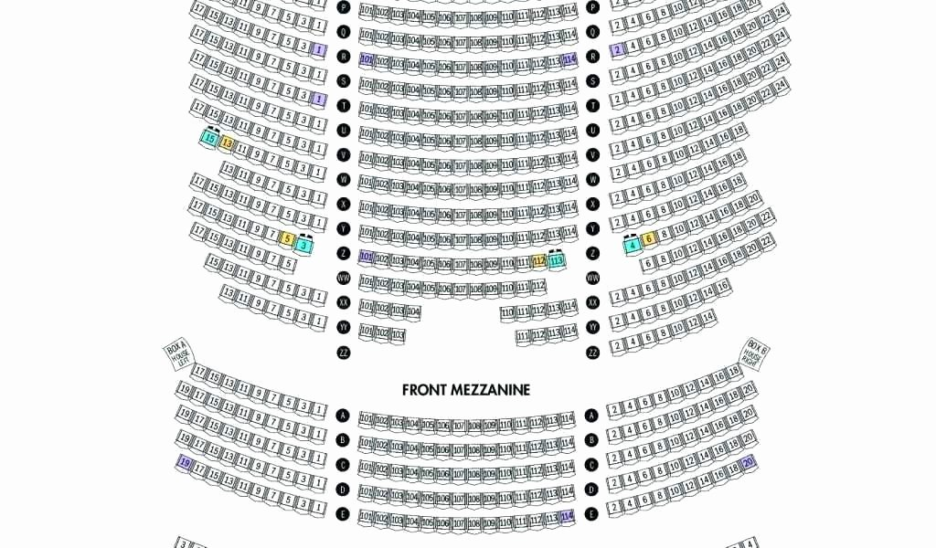 Auditorium Seating Chart Template Elegant Richard Rodgers theater Box Seats View