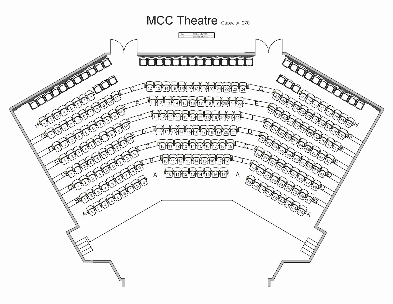 Auditorium Seating Chart Template Fresh Mahaffey theater Seating Chart