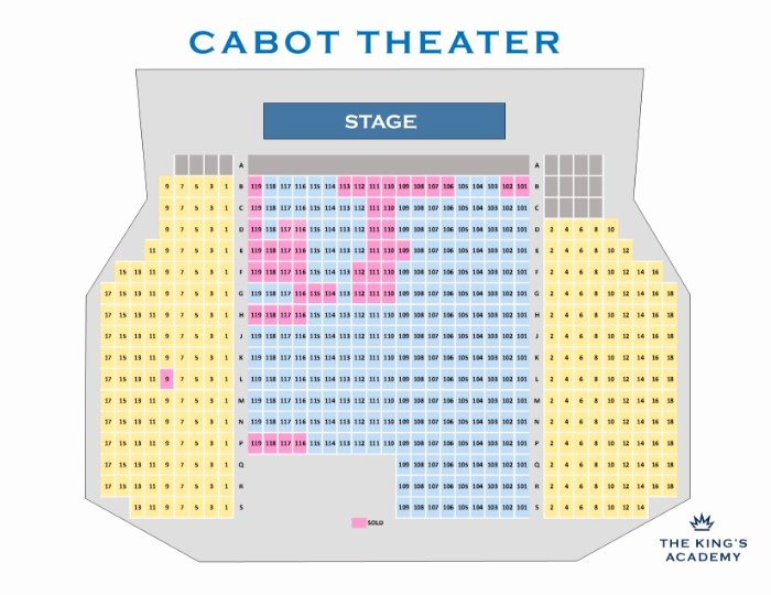 Auditorium Seating Chart Template Luxury Cabot theater Seating Chart Chart Template Ideas for You