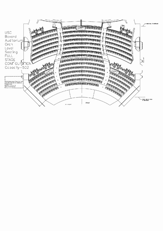 Auditorium Seating Chart Template Unique Usc Bovard Auditorium Seating Chart Printable Pdf