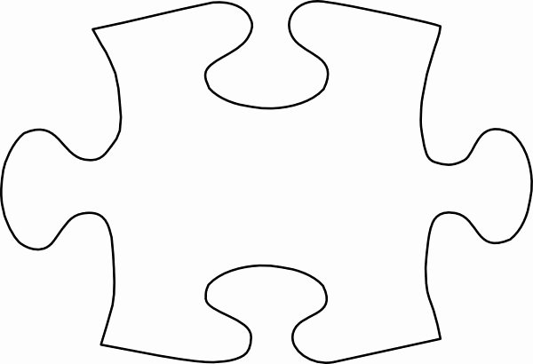 Autism Puzzle Piece Template Awesome Puzzle Piece Template