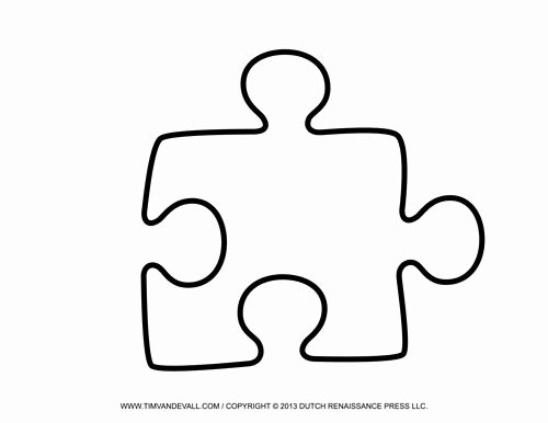 Autism Puzzle Piece Template Awesome Puzzle Piece Template On Pinterest