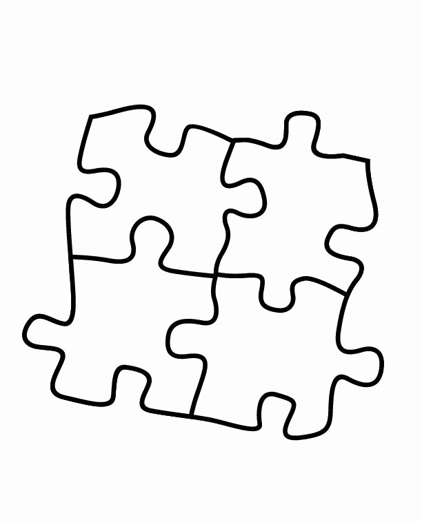Autism Puzzle Piece Template Beautiful Autism Heart Puzzle Coloring Page Coloring Pages