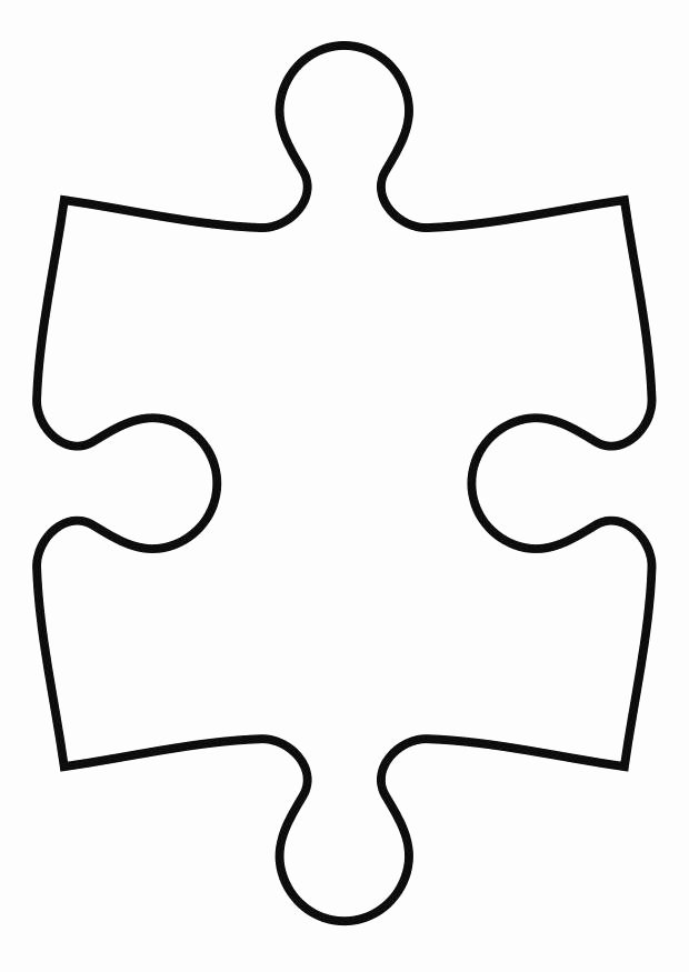 Autism Puzzle Piece Template Lovely Puzzle Piece Template Cliparts