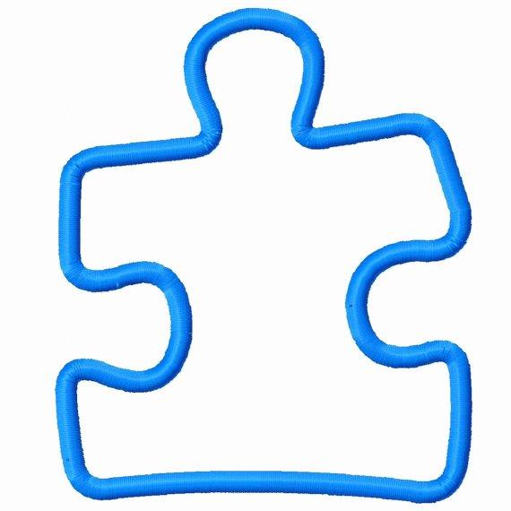Autism Puzzle Piece Template Luxury Autism Awareness Puzzle Piece Template Clipart Best