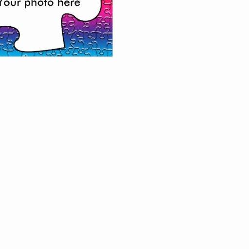 Autism Puzzle Piece Template New Autism Puzzle Piece Photo Card Template