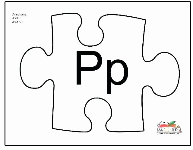 Autism Puzzle Piece Template New Inspirational Blank Puzzle Pieces Template Jigsaw 4 Piece