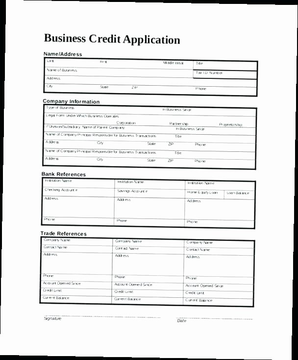 Auto Credit Application Template Inspirational Auto Loan Credit Application form Template Unique Pics