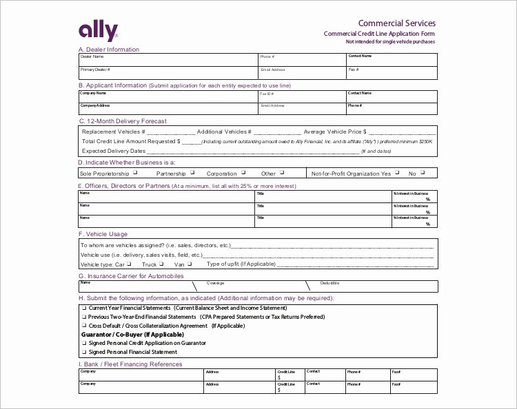 Auto Credit Application Template Lovely 24 Credit Application form Templates Free Word Pdf formats