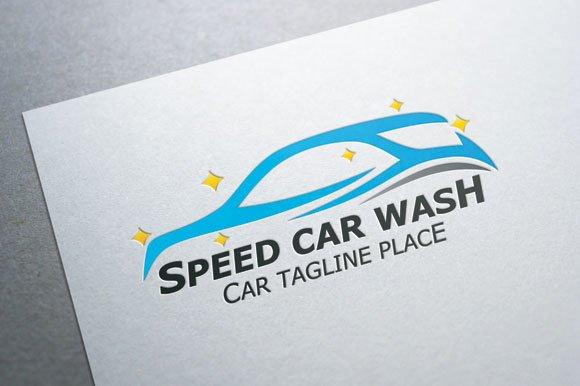 Auto Detailing Logo Template Beautiful Speed Car Wash Logo Logo Templates On Creative Market