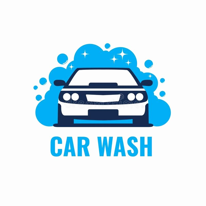 Auto Detailing Logo Template Lovely Car Wash Logo Light Background Clean Car In Bubbles