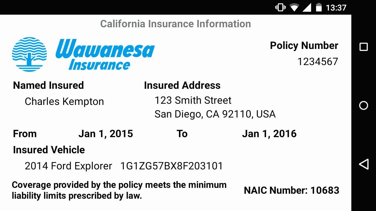 Auto Insurance Card Template Beautiful Auto Insurance Card Template Free Download