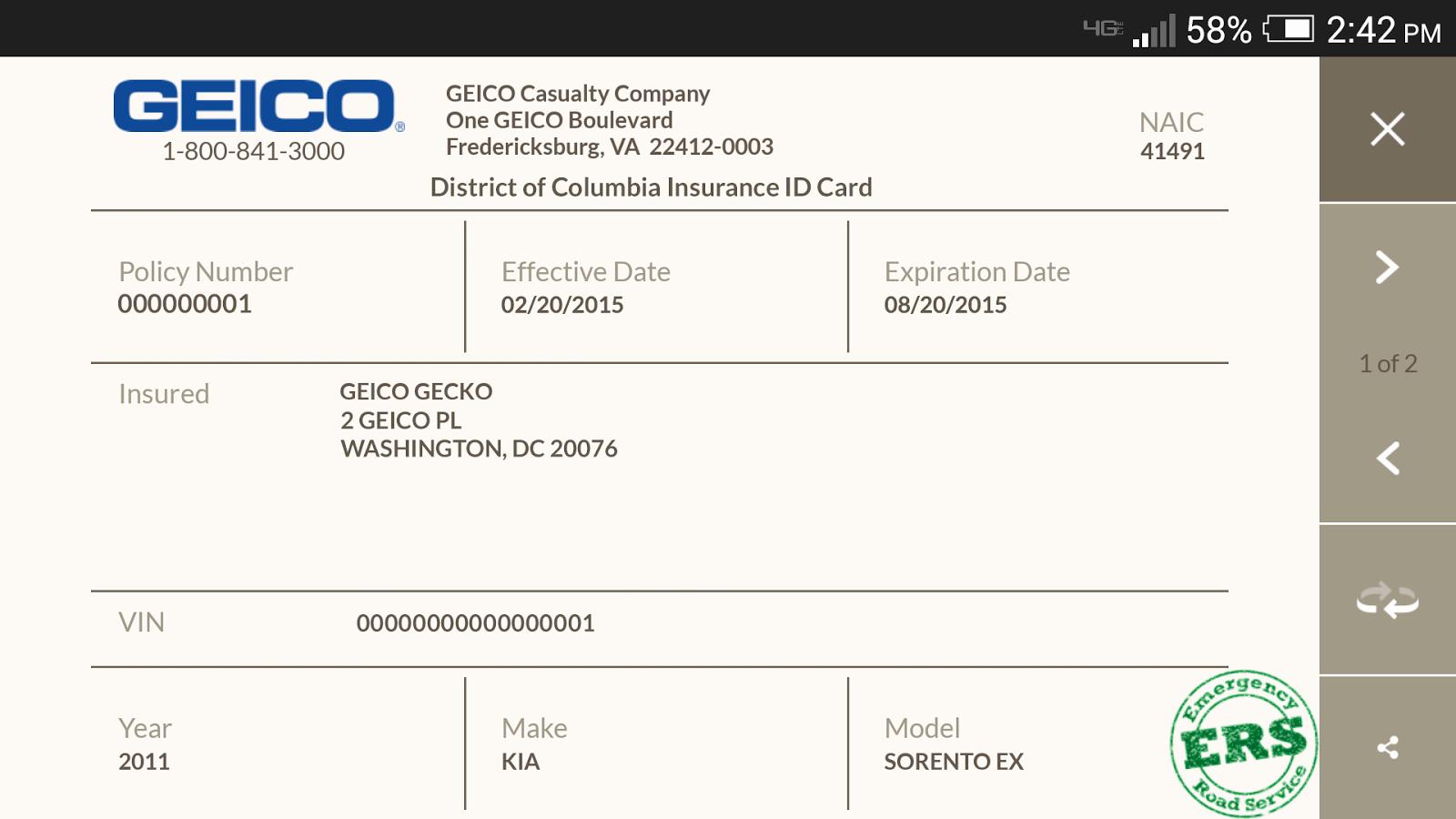 Auto Insurance Card Template Unique Multi Car Insurance Geico Temporary Car Insurance