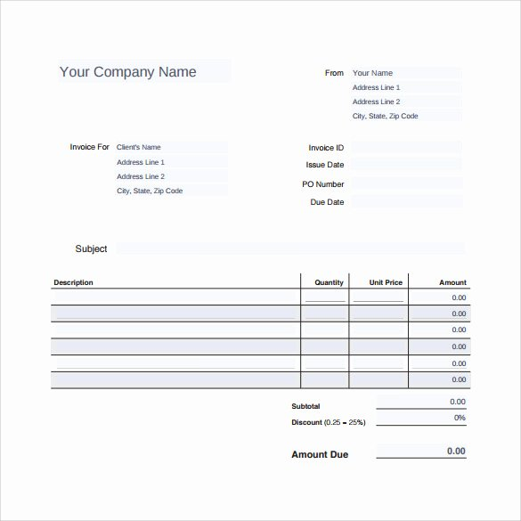 Auto Repair Invoice Template New 12 Sample Auto Repair Invoice Templates to Download