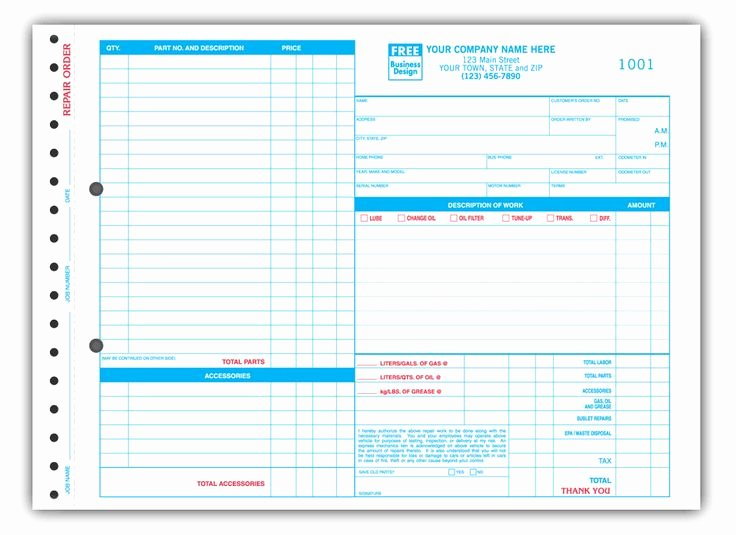 Auto Repair Invoice Template New 17 Best Images About Auto Service Invoice On Pinterest