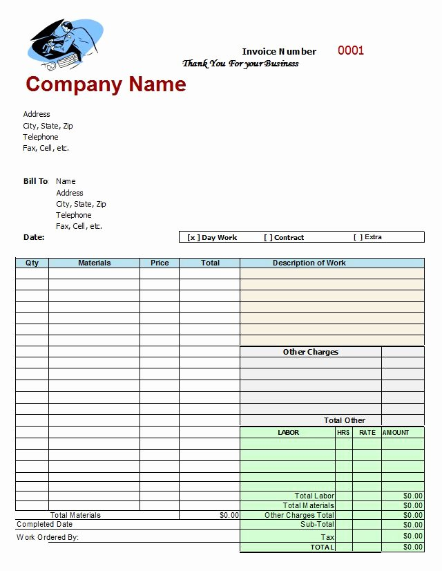 Auto Repair Invoice Template New Mechanics Invoice