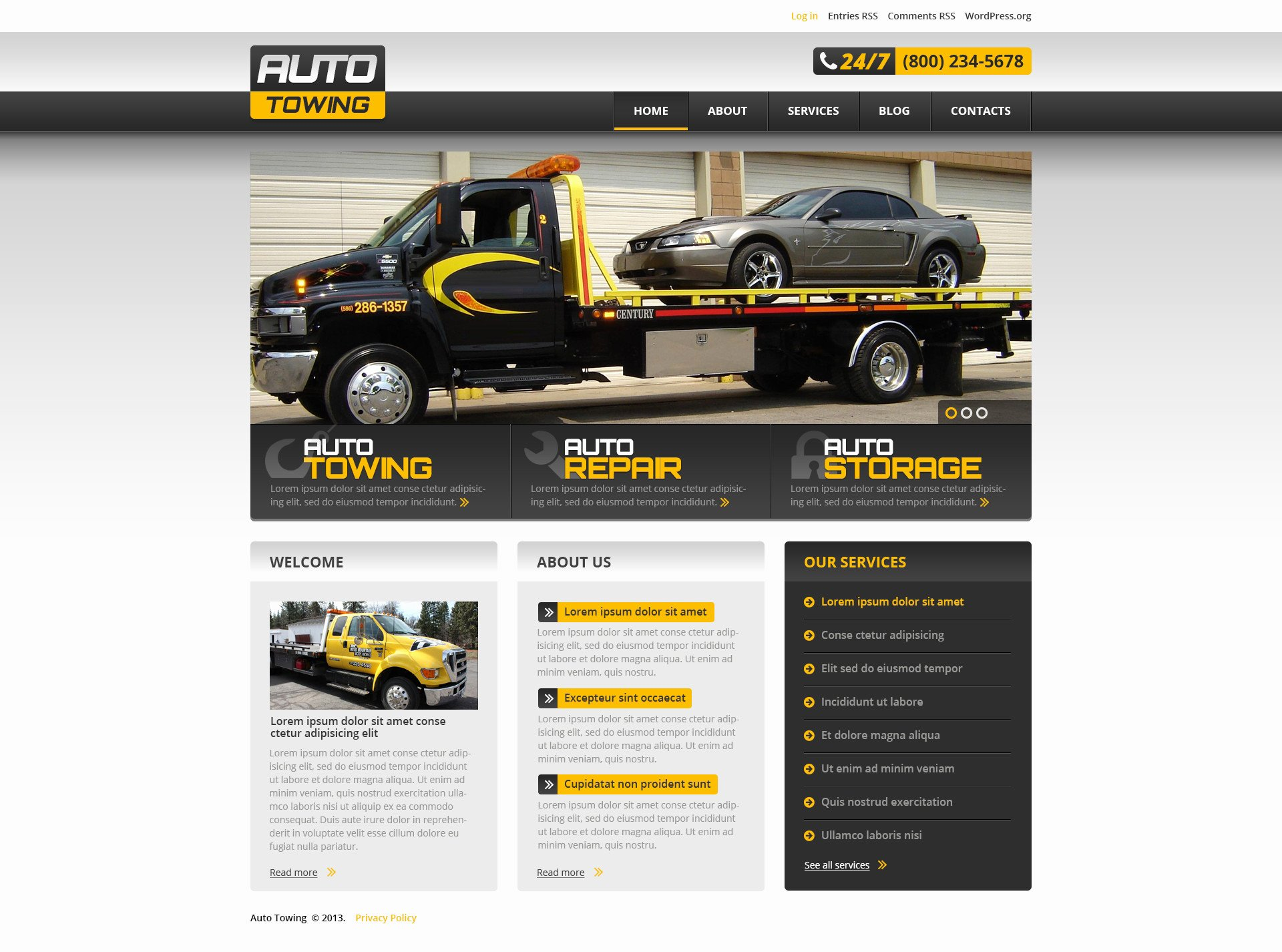 Auto Repair Website Template Best Of Car Service Website Template Free Download