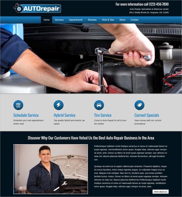 Auto Repair Website Template Elegant 25 Auto Repair Website themes & Template