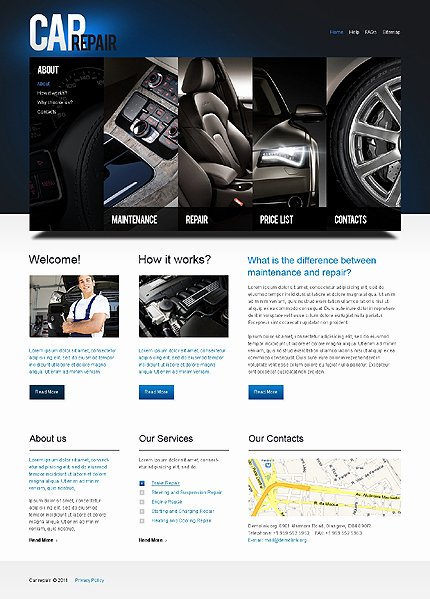 Auto Repair Website Template Elegant attention Getting Car Website Templates