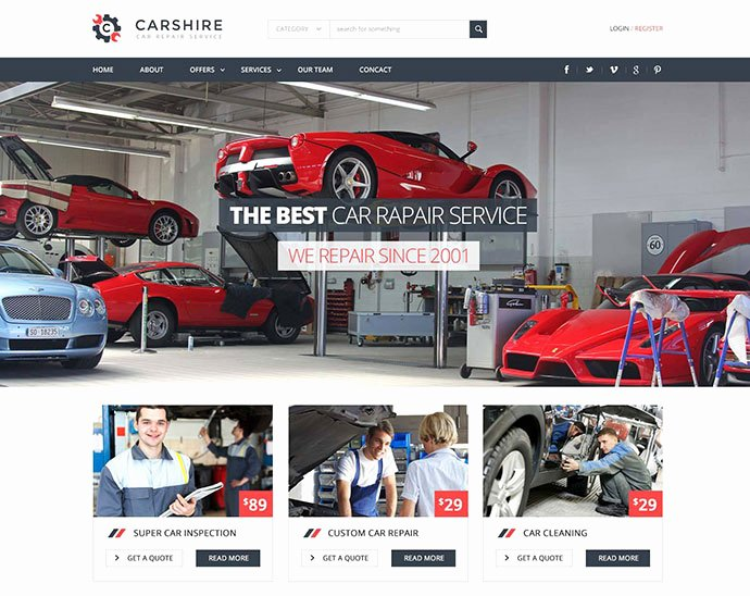 Auto Repair Website Template Fresh 75 Best Business & Services Web Design Templates