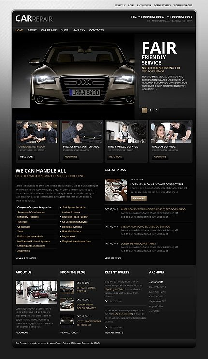 Auto Repair Website Template Fresh attention Getting Car Website Templates