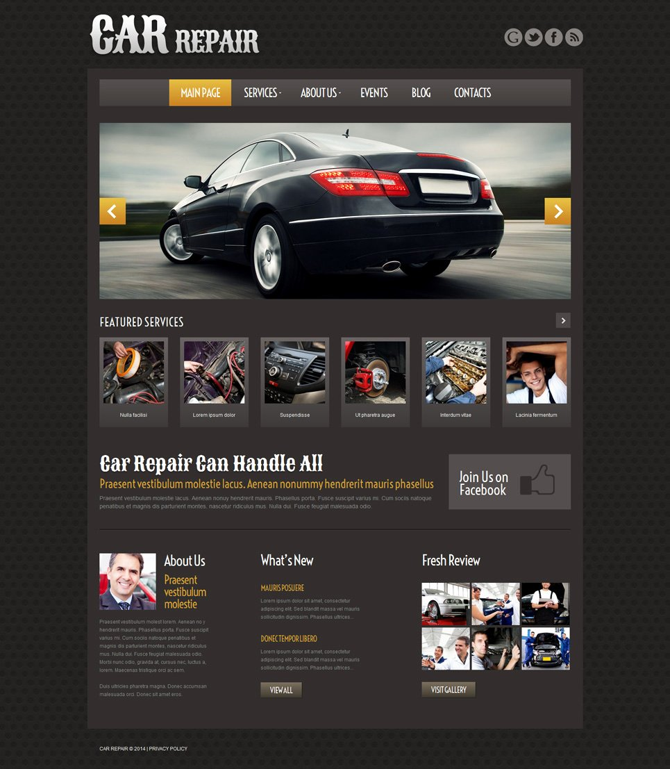 Auto Repair Website Template Lovely Car Repair Responsive Wordpress theme