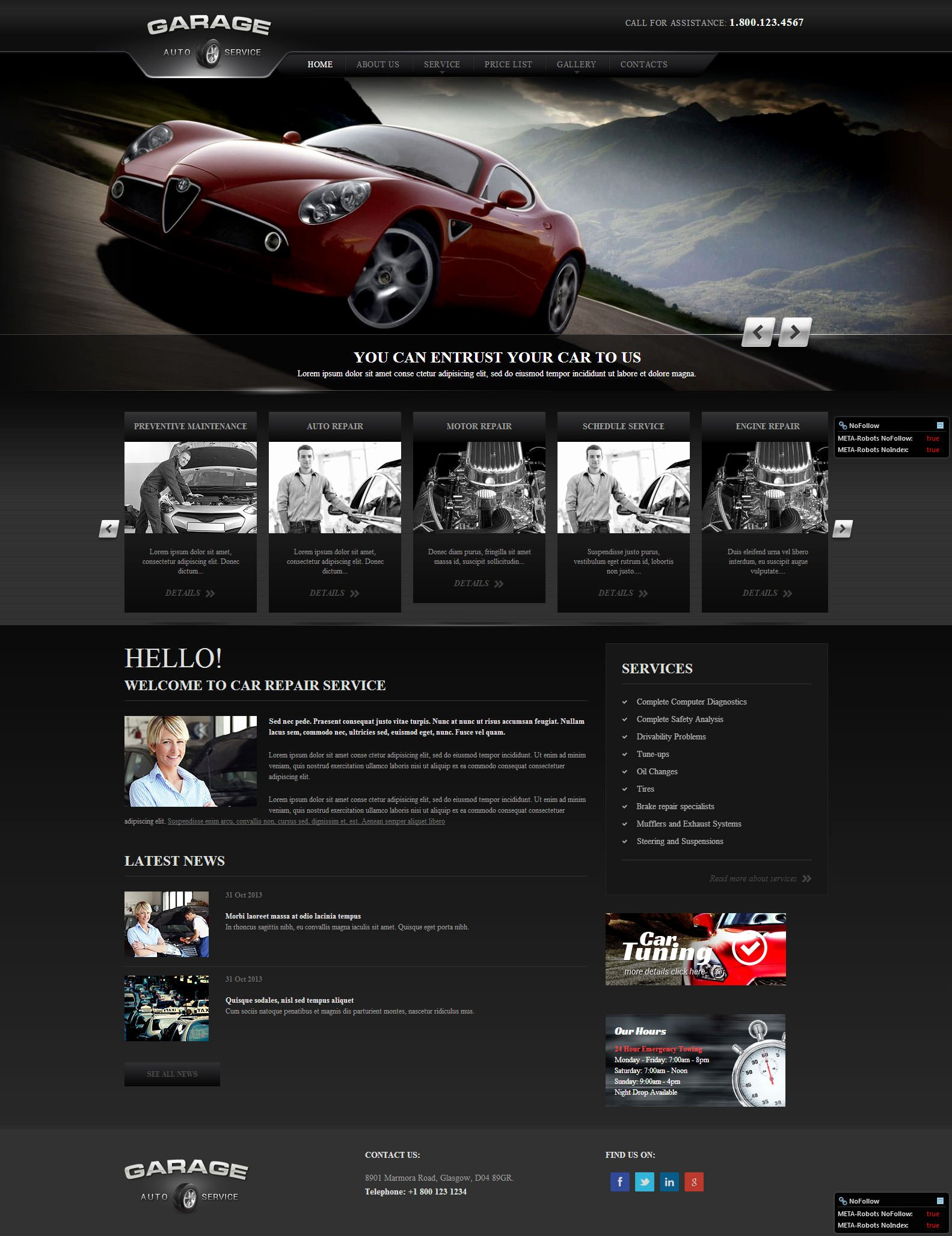 Auto Repair Website Template Luxury 22 Best Premium Car Website Templates