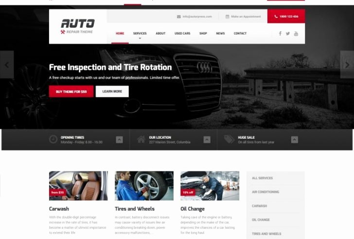 Auto Repair Website Template Luxury Auto Repair Website Template for Wordpress Popteenus