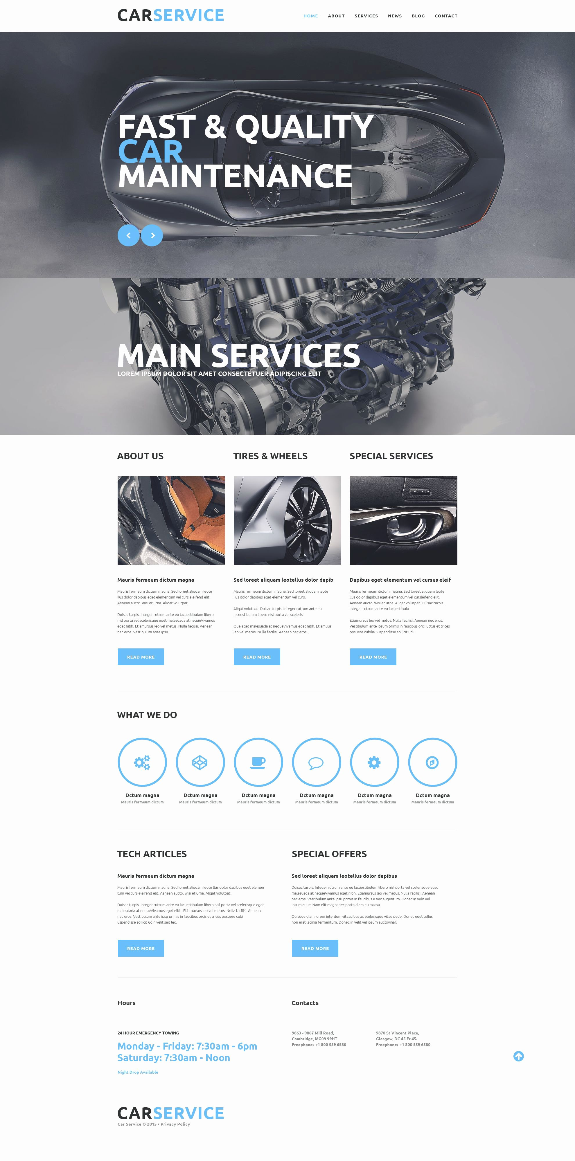 Auto Repair Website Template New Car Repair Service Website Template