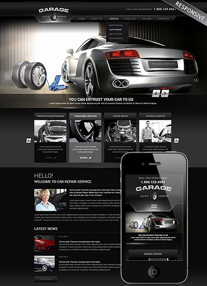 Auto Repair Website Template New Car Repair Service Wordpress Template Id From