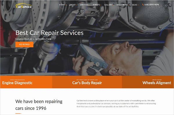 Auto Repair Website Template Unique 25 Auto Repair Website themes & Template